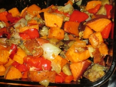 Roasted Eggplant, Red Pepper recipe