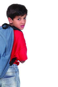 15175229 - little boy wearing a rucksack