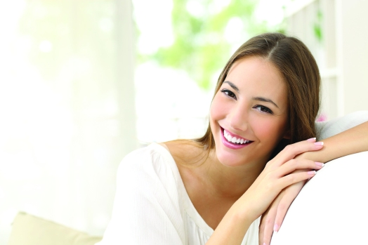 50532393 - beauty woman with white perfect smile looking at camera at home